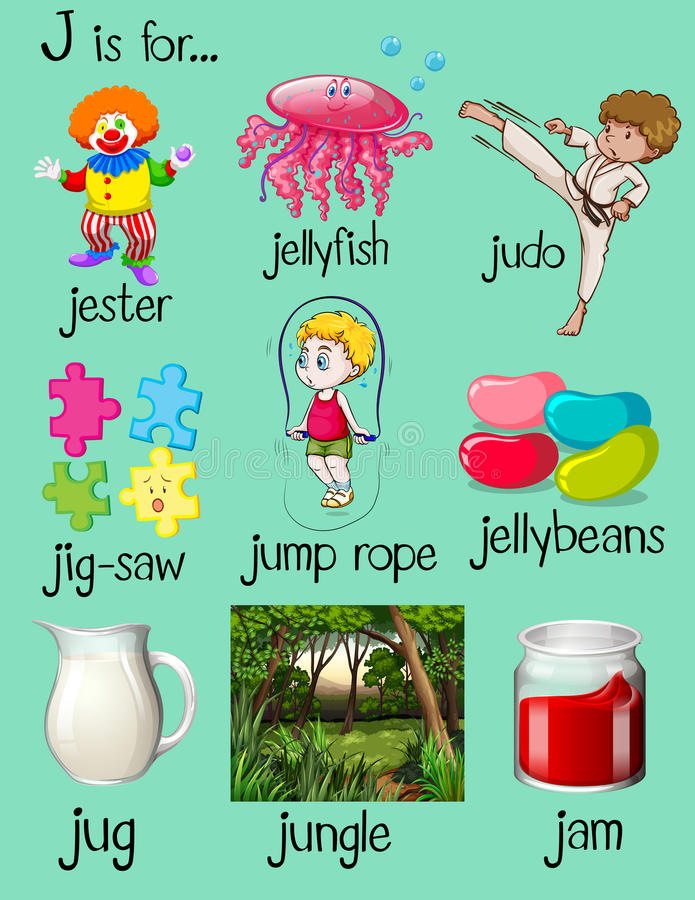 Letter Words Beginning With J