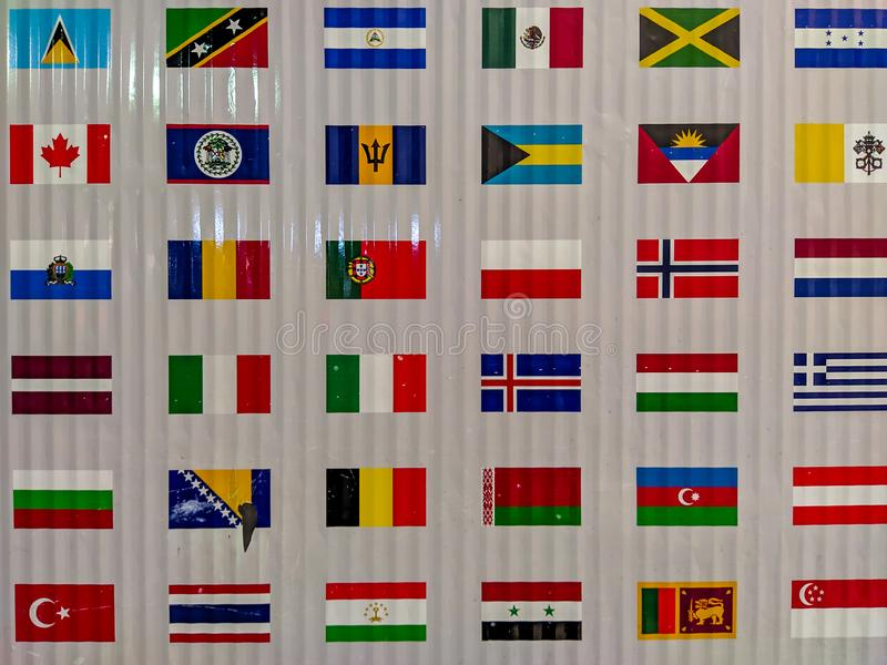 International Business World Flags Globe Stock Photos