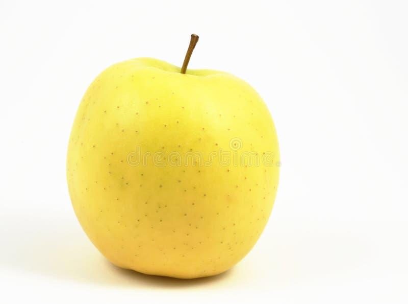 Manzana amarilla horizontal imagen de archivo libre de regalías