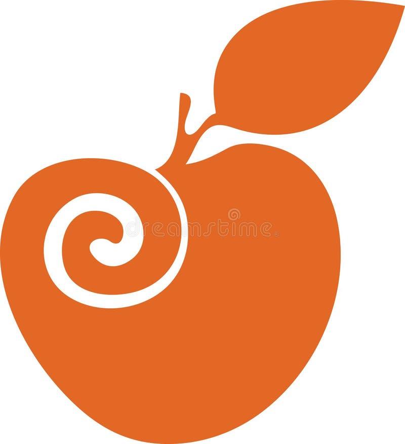 Manzana anaranjada stock de ilustración