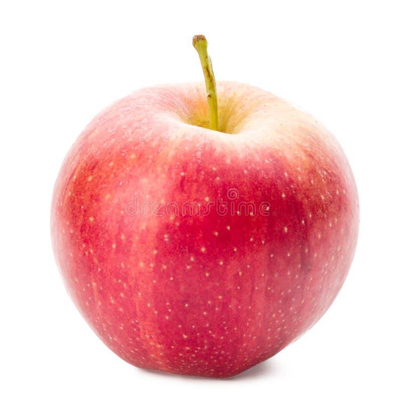 Manzana brillante Aislado en un fondo blanco foto de archivo libre de regalías