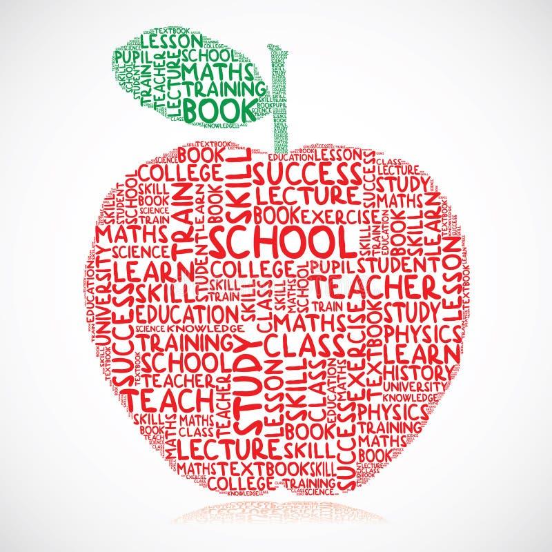 Manzana de la educación stock de ilustración