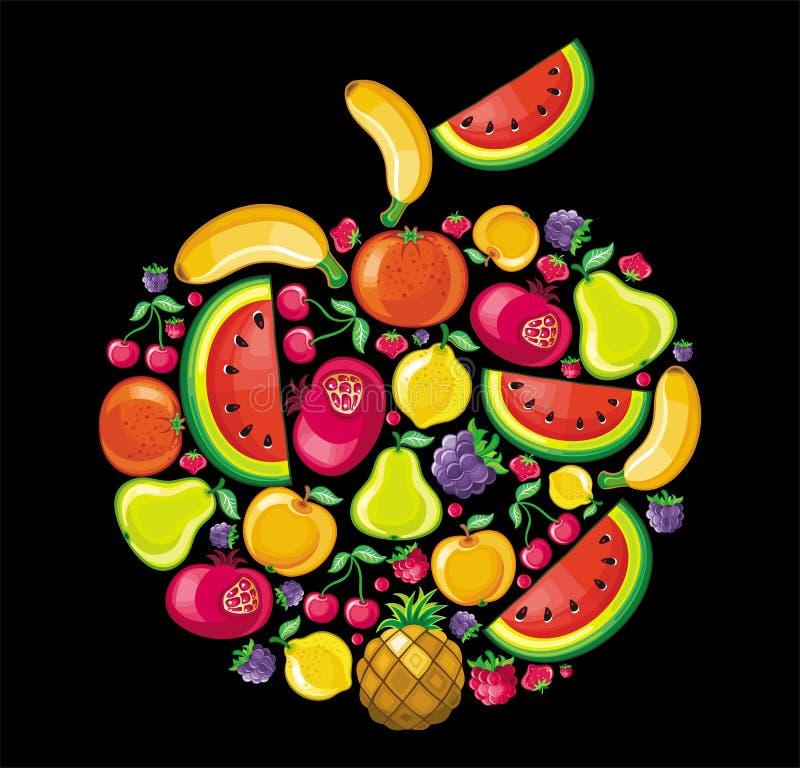 Manzana de la fruta libre illustration