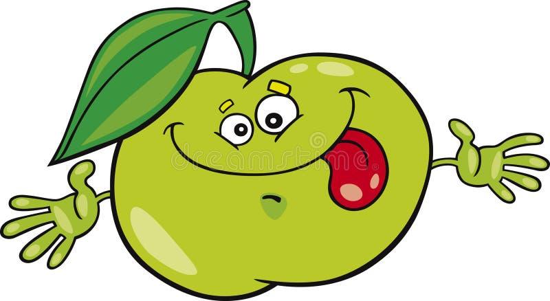 Manzana de la historieta stock de ilustración