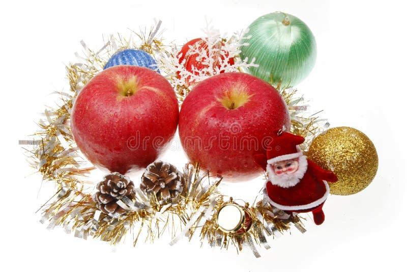 Manzana de la Navidad foto de archivo libre de regalías