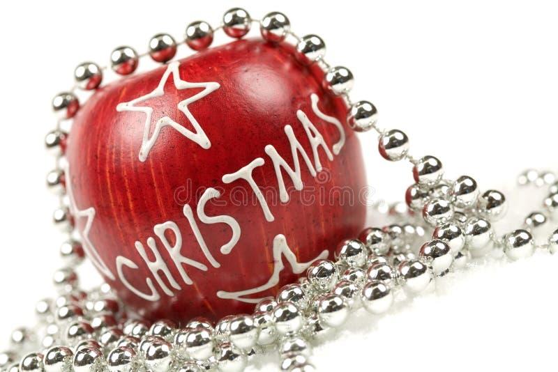 Manzana de la Navidad imagen de archivo
