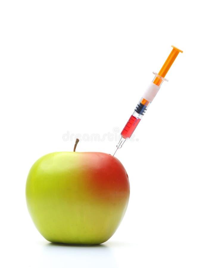 Manzana de la OGM imagenes de archivo