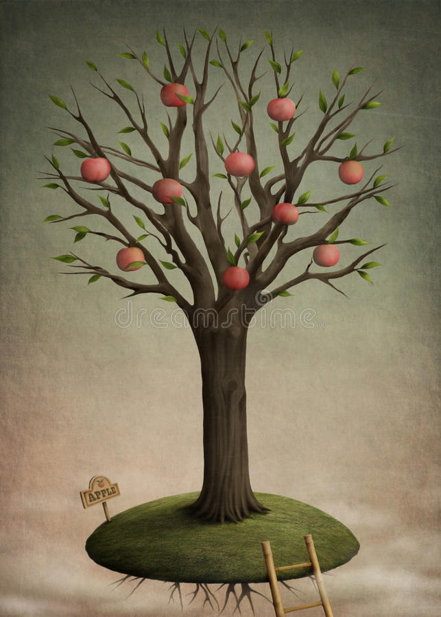 Manzana del árbol ilustración del vector