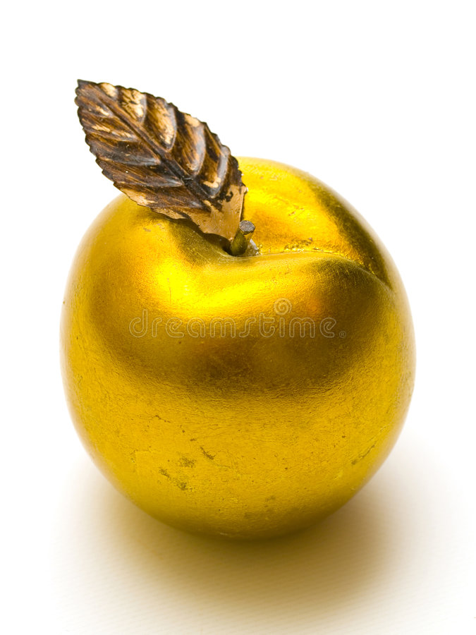 Manzana del oro foto de archivo libre de regalías