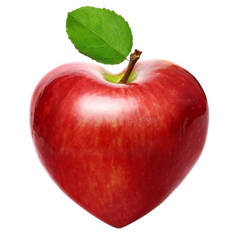 Manzana del símbolo del corazón imagen de archivo libre de regalías