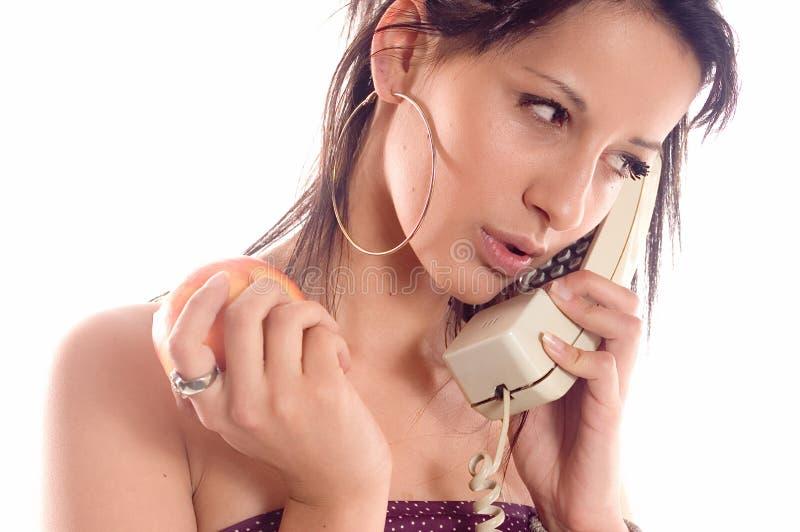 Manzana del teléfono de la llamada imagen de archivo