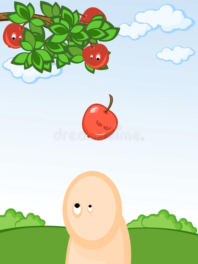 Manzana que cae libre illustration