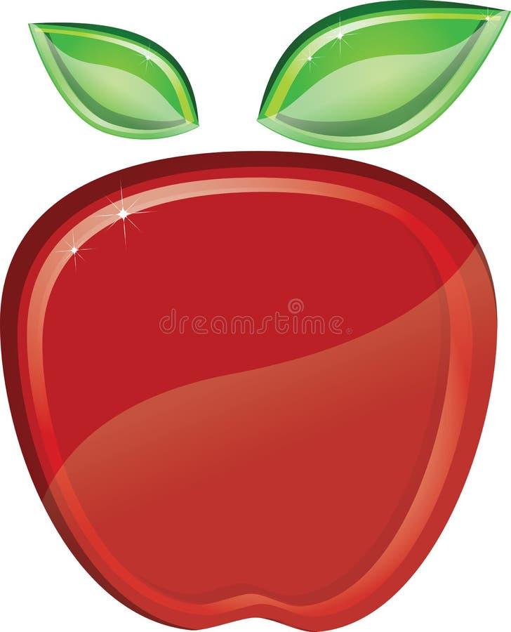 Download Manzana roja ilustración del vector. Ilustración de curva - 44858030