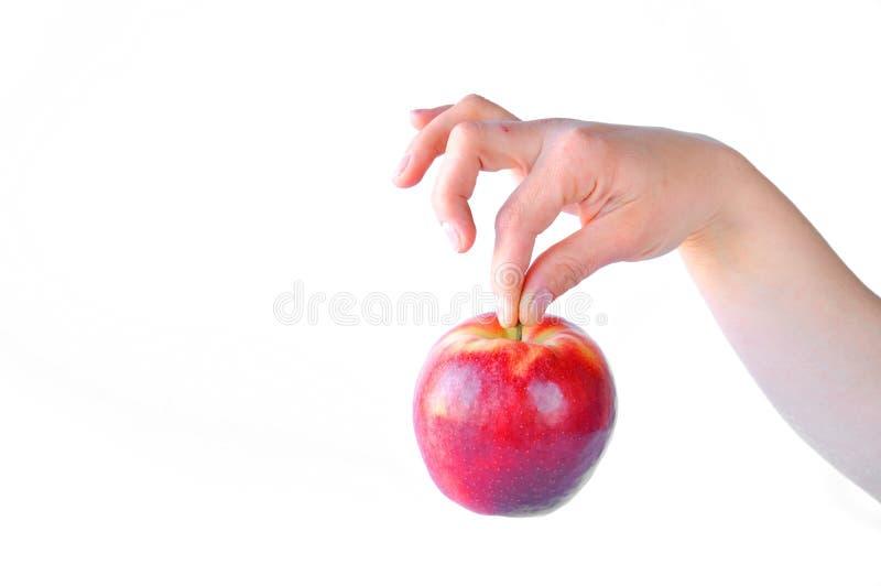 Manzana roja a disposici?n fotos de archivo