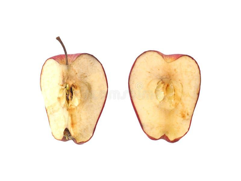 Manzana roja secada aislada en el fondo blanco fotos de archivo