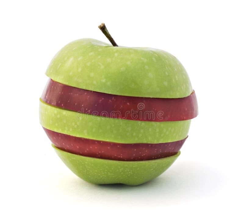 Manzana roja y verde fotos de archivo