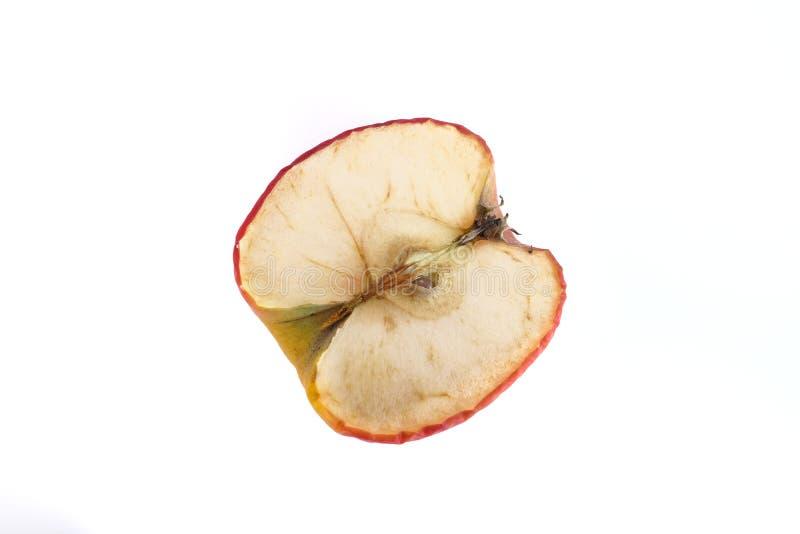 Manzana seca aislada foto de archivo