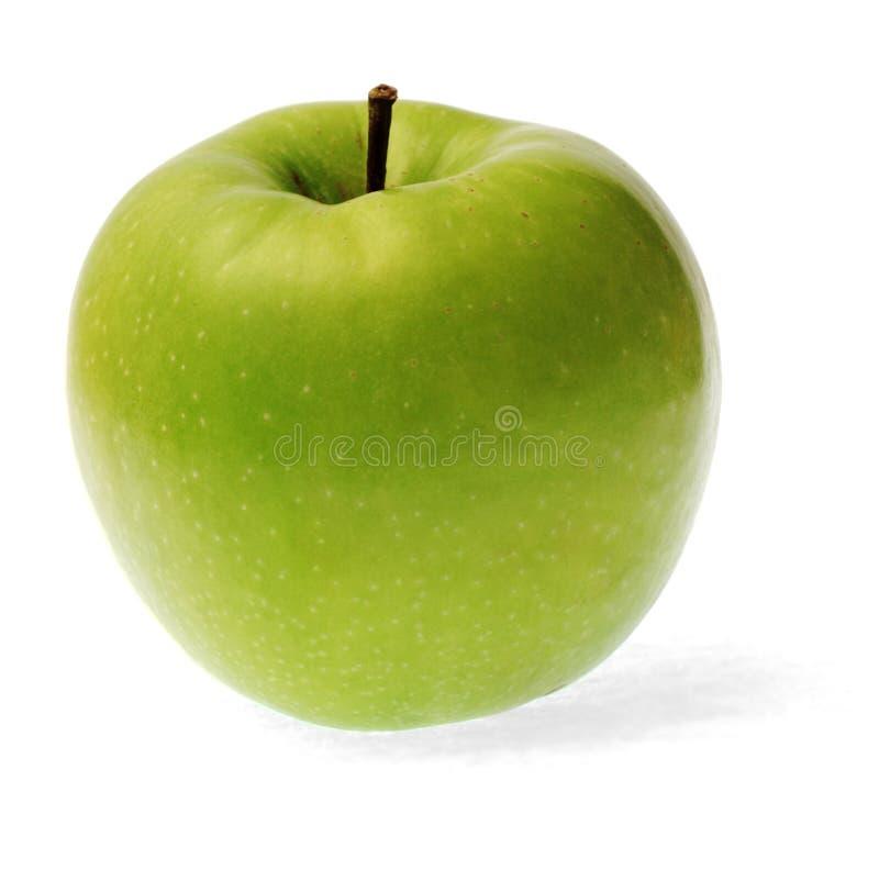 Manzana verde aislada en blanco imágenes de archivo libres de regalías