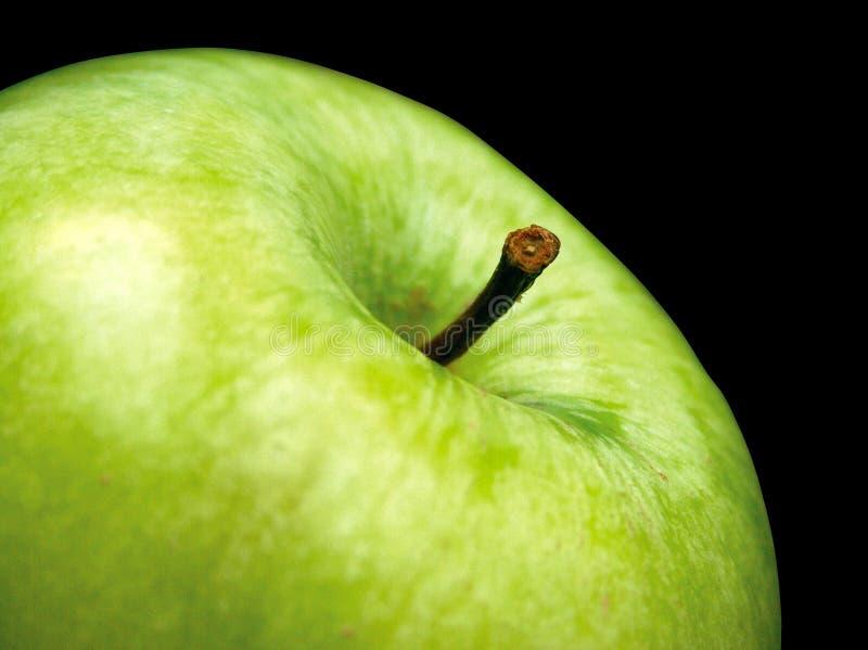 Manzana verde con el camino de recortes fotografía de archivo libre de regalías