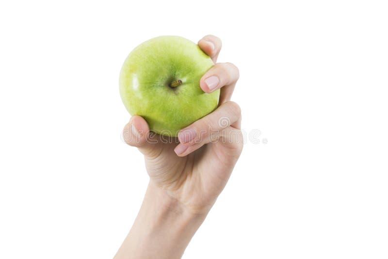 Manzana verde natural fotografía de archivo