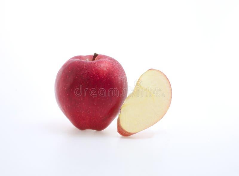 Manzana y primer rojos foto de archivo libre de regalías