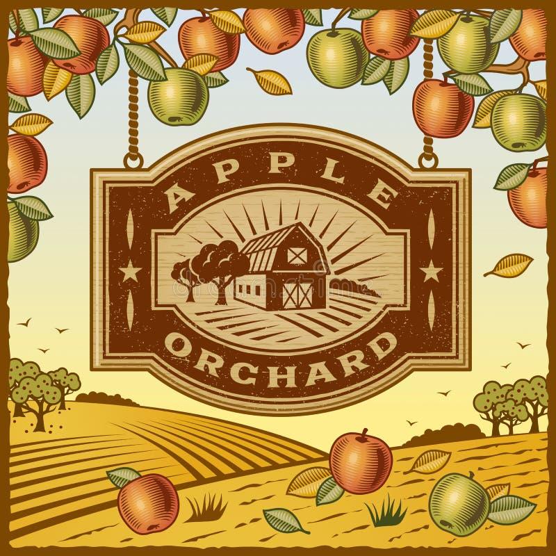 Manzanar stock de ilustración