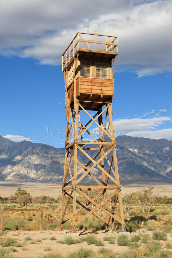 Download Manzanar guard tower stock photo. Image of reconstructed - 21065334
