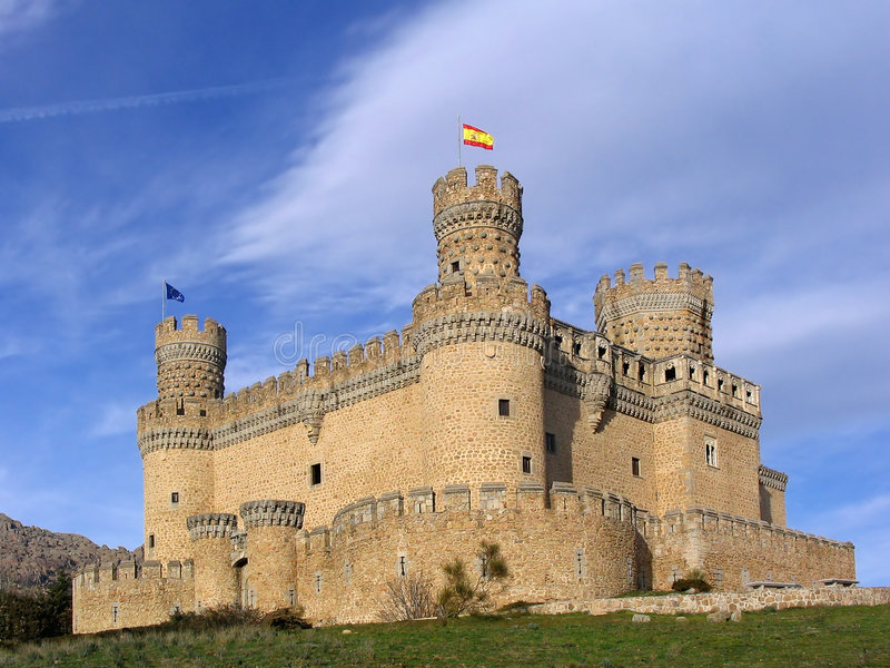 Manzanares el Real Castle 2 stock photography
