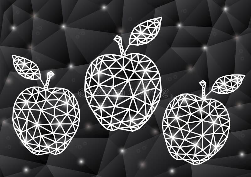 Manzanas abstractas del triángulo con el fondo stock de ilustración