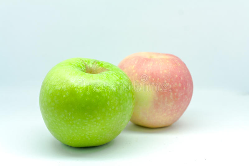 Manzanas aisladas imágenes de archivo libres de regalías