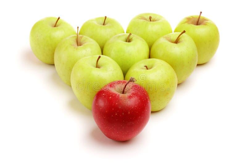 Manzanas aisladas fotos de archivo
