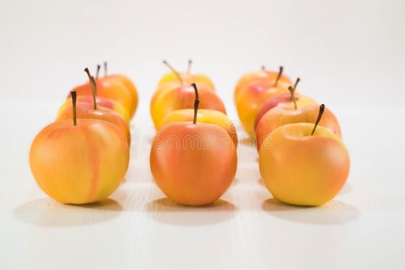 Manzanas amarillas imagen de archivo libre de regalías