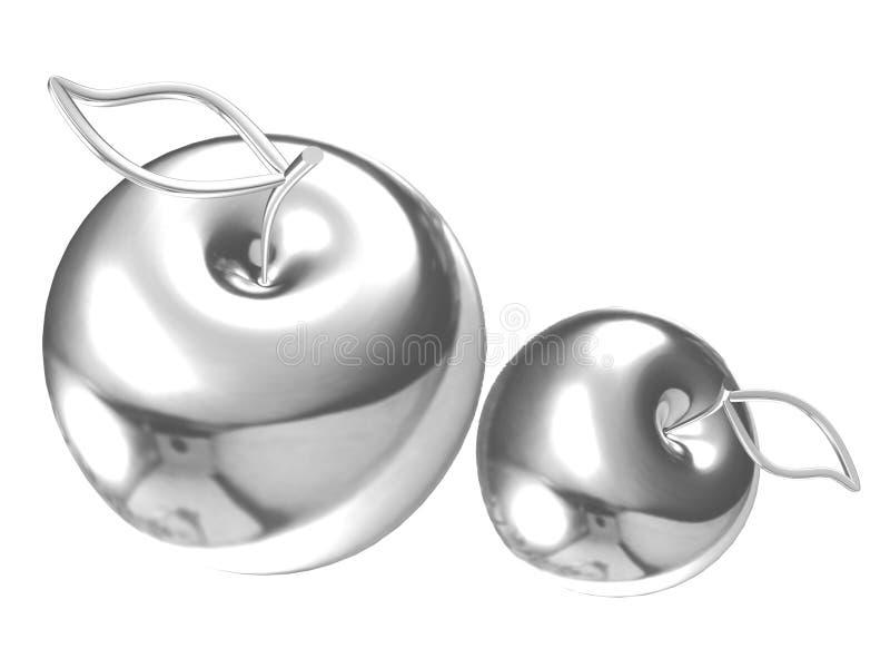 Manzanas de plata fotografía de archivo libre de regalías