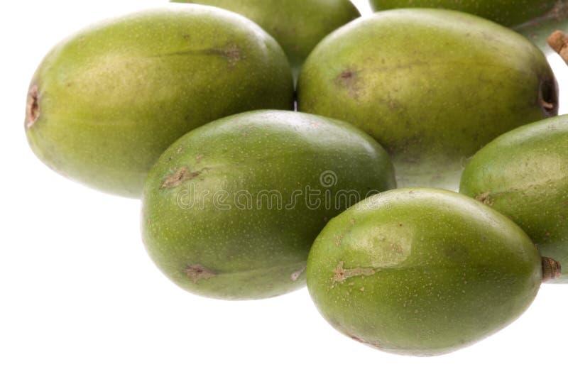 Manzanas de Tahitian aisladas fotos de archivo