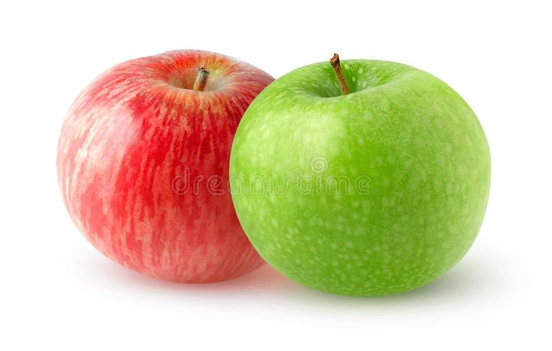 manzanas dobles fotografía de archivo