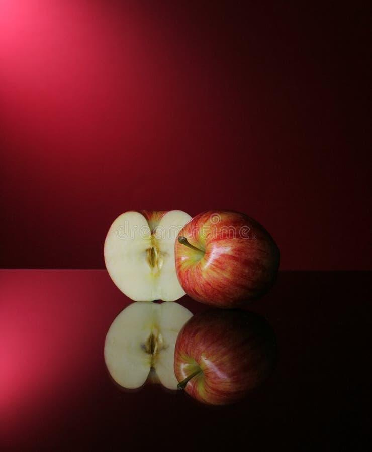 Manzanas en rojo fotografía de archivo