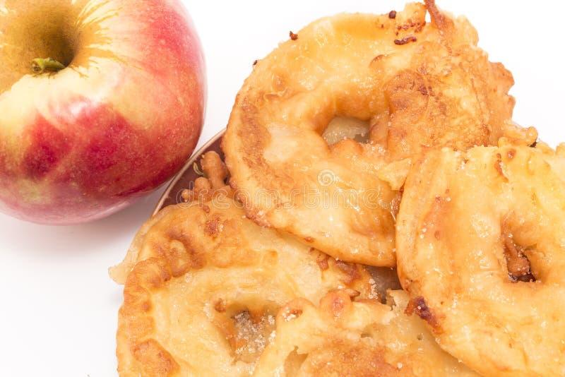 Manzanas fritas foto de archivo libre de regalías