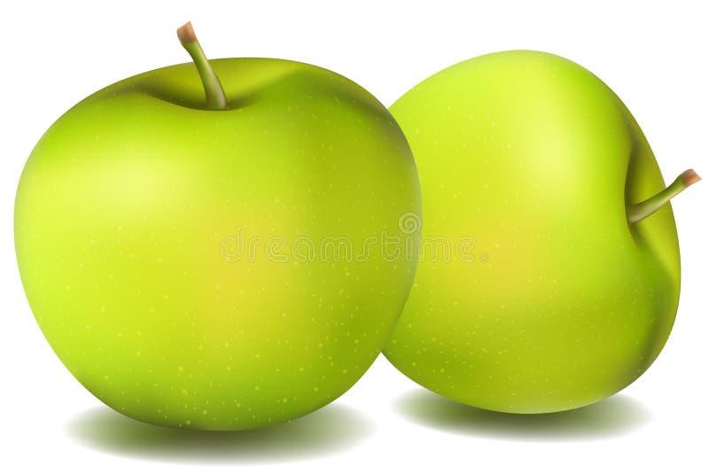 Manzanas naturales ilustración del vector