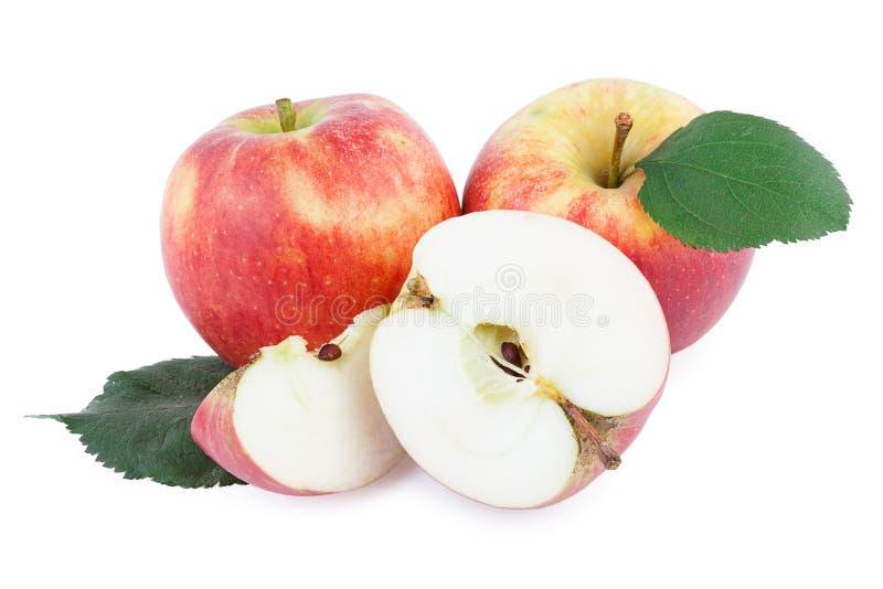 Manzanas orgánicas en embalaje imagenes de archivo