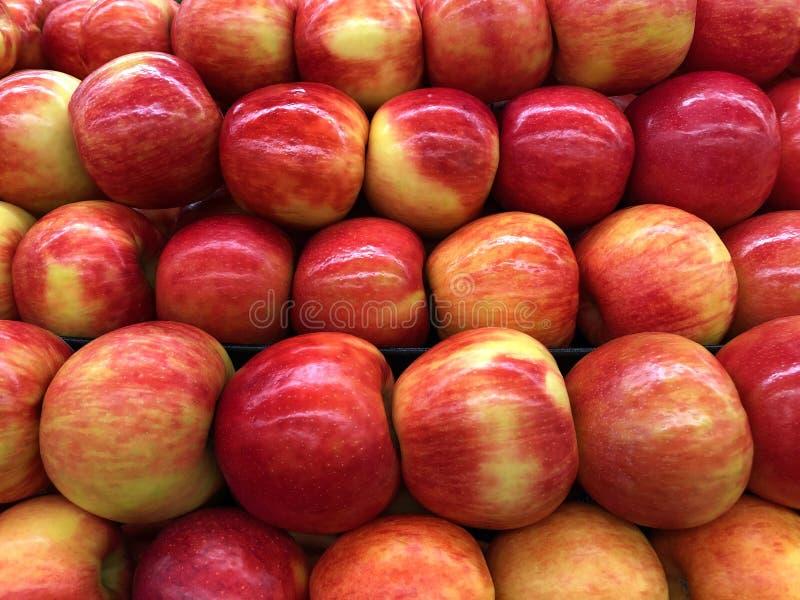 Manzanas orgánicas frescas de la patata a la inglesa de miel de la visión superior imagen de archivo libre de regalías