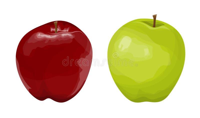 Manzanas rojas y verdes libre illustration