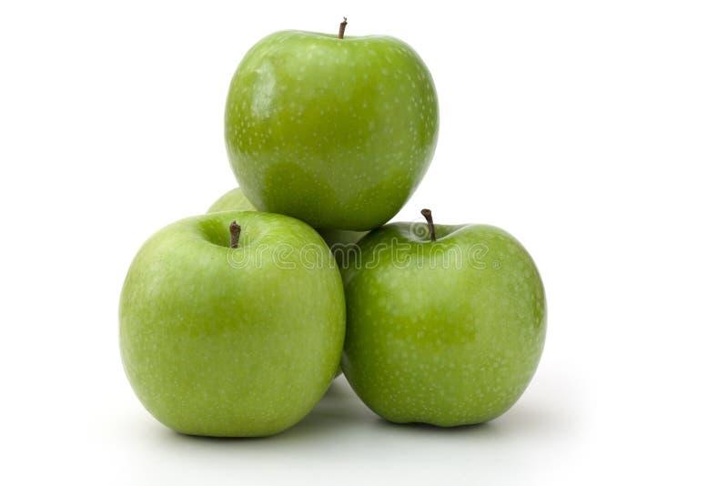 Manzanas verdes imagenes de archivo