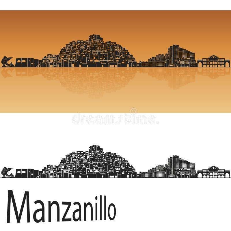 Manzanillo skyline stock illustration