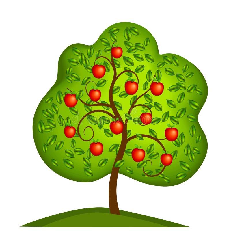 Manzano Aislado stock de ilustración
