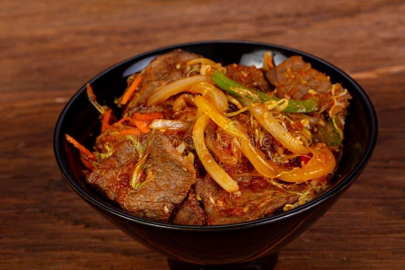 Manzo con curry immagine stock libera da diritti