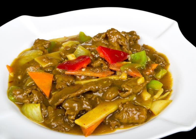 Manzo con la salsa di curry immagine stock libera da diritti