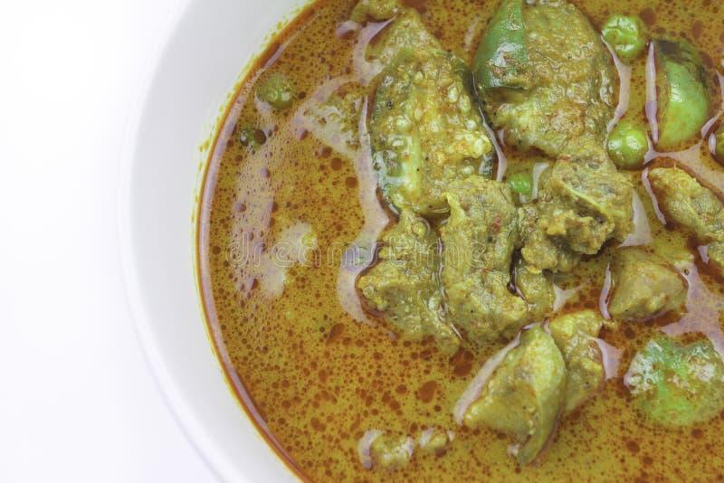 Manzo del curry del curry della melanzana con alimento tailandese piccante fotografia stock