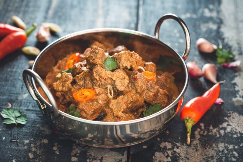 Manzo Rendang, alimento indonesiano immagine stock