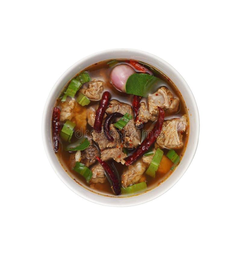 Manzo rosso tailandese piccante del curry fotografie stock libere da diritti