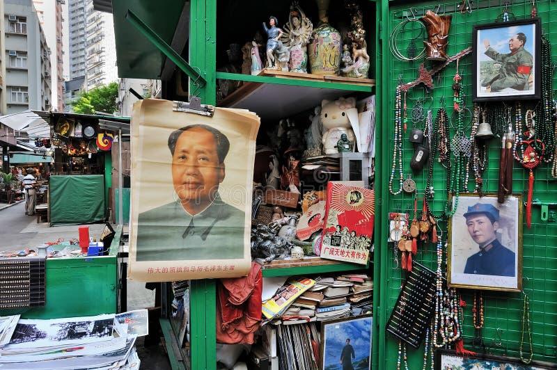 Mao bij de Markt van Antiquiteiten, Hongkong stock fotografie